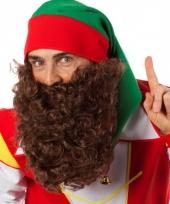 Bruine baard met elastiek trend