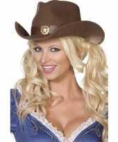 Bruine cowboy hoed voor volwassenen trend