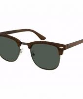 Bruine houtlook dames zonnebril model 040 trend