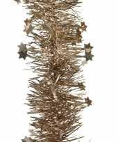 Bruine kerstversiering folie slinger met ster 270 cm trend