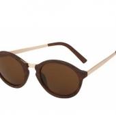 Bruine model 2180 replica zonnebril trend