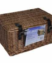 Bruine picknick manden 45 x 30 x 25 cm trend