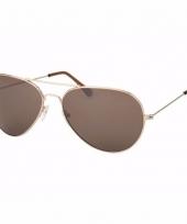 Bruine piloten dames zonnebril model 0061 trend