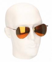 Bruine piloten heren spiegel zonnebril model 2002 trend