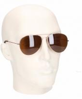 Bruine piloten heren zonnebril model 0061 trend