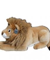 Bruine pluche leeuw 50 cm trend