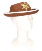 Bruine sheriff hoed voor kinderen trend