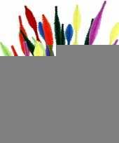 Buigzaam chenilledraad gegolfd kleuren 30 cm 28 st trend