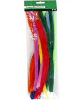 Buigzaam chenilledraad kleuren 30 cm 25 st trend