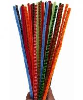 Buigzaam chenilledraad kleuren 30 cm 30 st trend