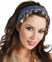 Buikdanseres hoofdband diadeem kobalt blauw dames verkleedaccess trend