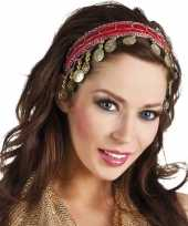 Buikdanseres hoofdband diadeem rood dames verkleedaccessoire trend
