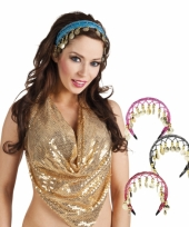 Buikdanseres hoofdbandje gekleurd trend