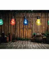Buiten feestverlichting lichtsnoer gekleurde bolletjes 10 meter trend 10164109