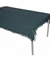 Buiten tafelkleed donkergroen 180 cm trend