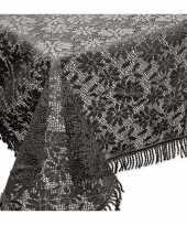 Buiten tafelkleed tafellaken donkergrijs 150 x 220 cm trend