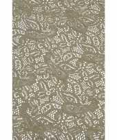 Buiten tafelkleed tafellaken grijs 140 x 260 cm rechthoekig trend