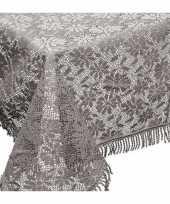 Buiten tafelkleed tafellaken grijs 150 x 220 cm trend