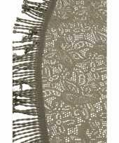 Buiten tafelkleed tafellaken grijs 160 cm rond trend
