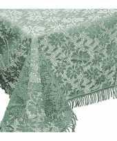 Buiten tafelkleed tafellaken groen 150 x 220 cm trend