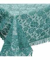 Buiten tafelkleed tafellaken zeeblauw 150 x 220 cm trend