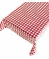 Buiten tafelkleed tafelzeil rode ruiten 140 x 170 cm trend