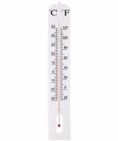 Buiten thermometer wit 39 cm trend