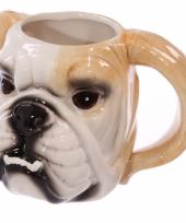 Bulldog hond beker keramiek trend