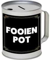 Cadeau kado fooienpot collectebus 10 x 13 cm trend
