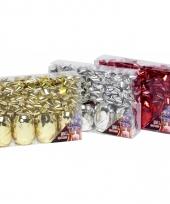 Cadeau verpakking versiering rood set trend