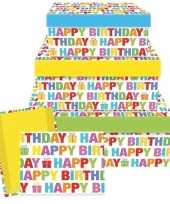Cadeaudoosje happy birthday 17 5 cm trend