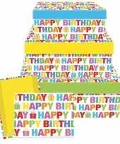 Cadeaudoosje happy birthday 22 cm trend
