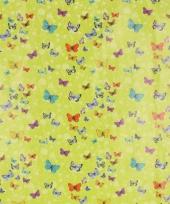 Cadeaupapier groen met vlinders 70 x 200 cm trend