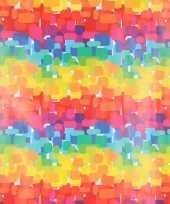 Cadeaupapier regenboog kleuren 70 x 200 cm trend