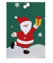 Cadeauzak kerstman groen 97 cm trend
