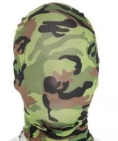Camouflage second skin masker trend