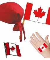 Canada canadees thema verkleed set voor volwassenen trend