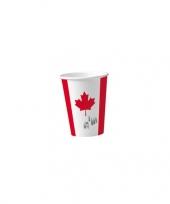 Canada wegwerpbekers 8 st trend
