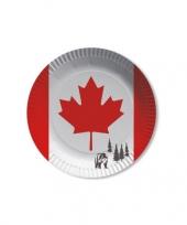 Canada wegwerpbordjes 8 st trend