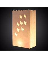 Candle bag vlinder print 26 cm trend