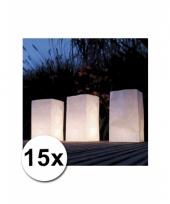 Candle bags van brandvertragend papier 15 stuks trend