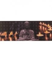 Canvas schilderij met led licht buddha type 1 trend
