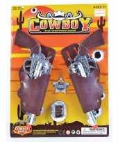 Carnaval accessoires pistolen met sheriff badge trend