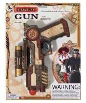 Carnaval accessoires steampunk revolver 25 cm trend
