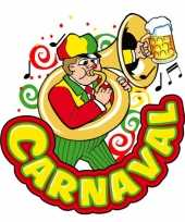 Carnaval decoratiebord muzikant 35 x 40 cm trend