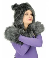 Carnaval dierenpak wolf set trend