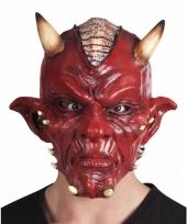Carnaval duivel masker lucifer met hoorns volwassenen trend