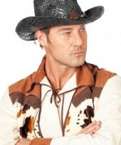 Carnaval hoed cowboy zwart voor heren trend