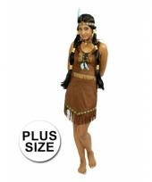Carnaval kostuum indiaan jurk voor dames grote maat trend