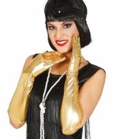 Carnaval metallic gouden gala handschoenen trend
